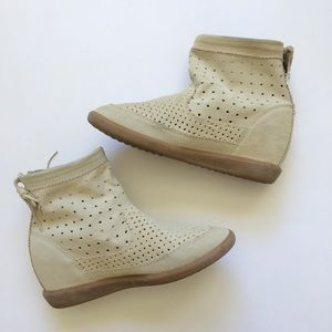 Isabel Marant Shoes - Isabel Marant Basley Perforated Wedge Booties